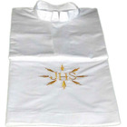 Alba white polyester and cotton with JHS embroidered