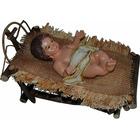 Baby Jesus with wooden cradle