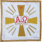Palia embroidered Alpha and Omega | Sets-Altar white