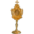 Reliquary of metal with Angels and Cross, golden