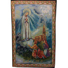 Tapestry of the Virgin of Fatima, the pastors and the Sanctuary