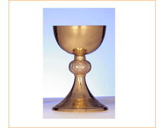 Chalice of silver, gold plated