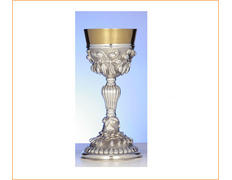 Chalice of silver with ornamentation in relief