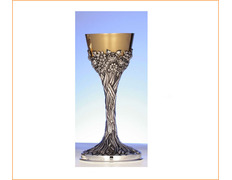 Chalice of silver with decoration carved