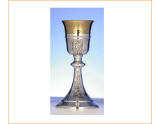 Chalice of silver, with cup and foot chiseled