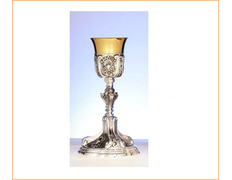 Chalice of sterling silver rococo style