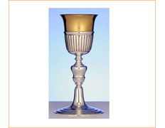 Chalice of silver with flat circular base