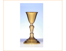 Cup of silver, plain with gold finish