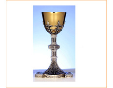 Chalice of silver with a golden cup