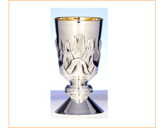Chalice of silver with reliefs in the cup