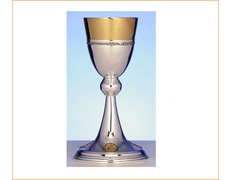 Chalice of silver with gilt décor on base and cup