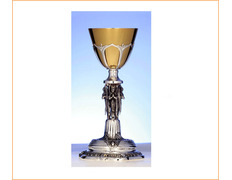 Chalice of silver with Angels in the knot