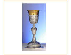 Chalice of silver with a 24 cm high