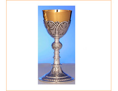 Chalice of silver, with top golden