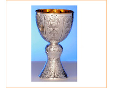 Chalice of silver with the inside gold