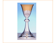 Chalice of silver with simple decor