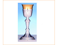 Chalice of silver with 25 cm of height