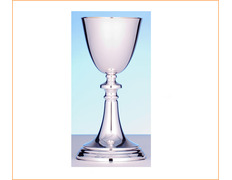 Chalice of silver smooth