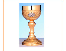Chalice of silver of the Resurrection of jesus Christ