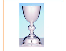 Chalice of silver's smooth with 19 cm of height
