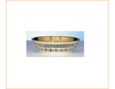 Paten of silver, with chiseled simple