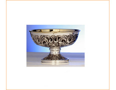 Paten with silver outer decoration embossed
