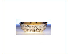 Paten engraved silver with inner gold
