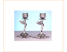 Candlestick in sterling silver for the table