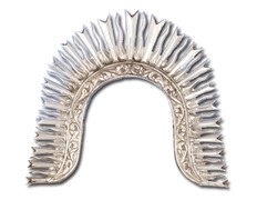 Halo silver diadem ornamented in relief