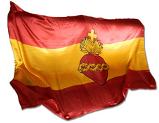 Flag of Spain with the Sacred Heart