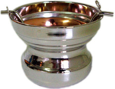 Acetre smooth made of silver plated metal
