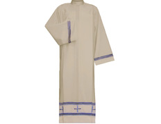 Alba with Crosses embroidered   Zipper on shoulder