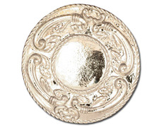 Halo of silver with decoration in altorelieve