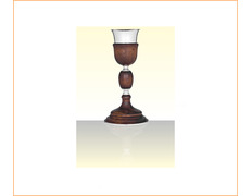 Chalice of silver and wood with 28 cm of height