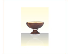 Paten of silver and wood-based