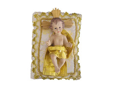 Child Jesus of marble with cushion