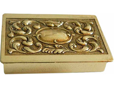 Box with keys made of bronze with JHS