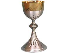 Chalice engraved metal