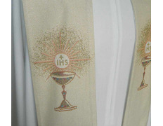 Stole viscose embroidered chalice