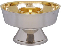 Ciborium two species of gold-plated metal bathroom silver