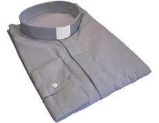 Shirt gray with neck strip