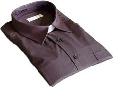 Gray shirt with dark collar shovel