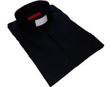 Black shirt with neck strip
