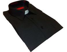 Black shirt with neck shovel