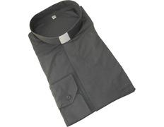 Shirt dark grey with neck strip
