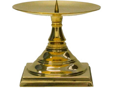 Candlestick for an altar for candle wax