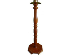 Candlestick stand made of wood