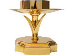 Candlestick with base golden