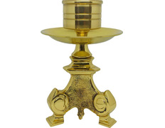 Candlestick for the altar on a stand of bronze