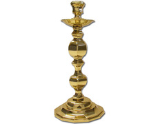 Candlestick for table manufactured in polished brass